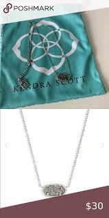 elisa silver pendant necklace in