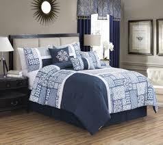 navy blue and white bedding king chevron comforter blush