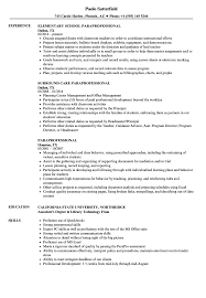 Paraprofessional Resume Paraprofessional Resume Samples Velvet Jobs 1