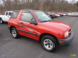 1999 Wildfire Red Chevrolet Tracker Soft Top 4x4 #47704947 ...