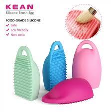 silicone egg shape makeup brush washing tools cosmetics makeup brushes rose
