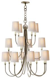 thomas o brien reed extra large chandelier antique nickel