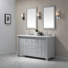 ove decors positano 60 in dove gray double sink bathroom vanity with yves natural marble top