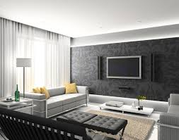 Small Modern Living Room Design Dining Room 8961674 Modern Interior With Big Tv On The Wall