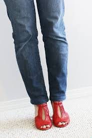 diy jean alteration from bootcut to skinny or straight sew