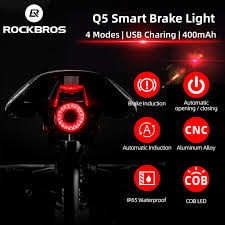 ROCKBROS <b>Bicycle</b> Smart Auto Brake Sensing <b>Light</b> IPx6 ...