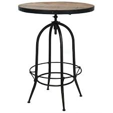 industria adjustable bristol pub table   zin home