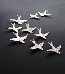 3d ceramic bird wall art