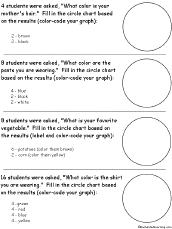 Creating Pie Charts Worksheet Pie Chart Circle Graphs Printouts Enchantedlearning Com