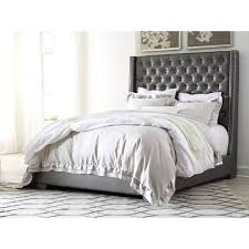leather upholstered bed signature design by tufted grey faux leather upholstered bed faux leather upholstered bed