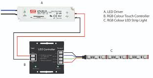 wiring diagram for a touch lamp wiring diagram schematics how to wire an rgb colour led strip light to a touch
