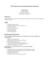 Resume Format For Experienced Hr Professionals Free Resume