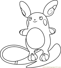 Small Picture Pokemon Coloring Pages Raichu Top Coloring Pokemon Coloring Pages