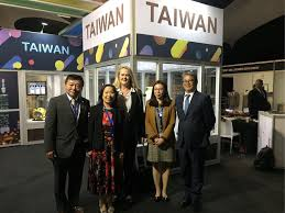 boft deputy director general william liu left joins other officials from home and abroad in visiting the taiwan booth at the 2019 gbr world congress
