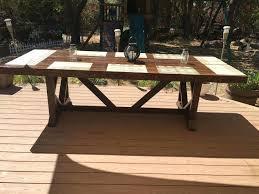 diy outdoor patio table unique large patio table at outdoor dining seats diy outdoor side table