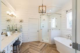 bathroom floor tile plank. Plank Porcelain Tile · Master-bath Bathroom Floor V