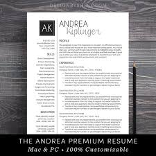 How To Make A Resume On A Mac Extraordinary Resume Template CV Template Word For Mac Or PC Etsy