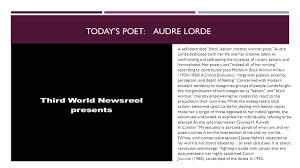 today s prompt write a poem story or essay where you celebrate  today s poet audre lorde a self described black lesbian mother warrior