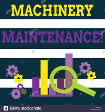 Writing Note Showing Machinery Maintenance Business Concept