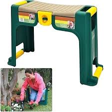 garden kneeler and seat garden pad gardeners seat and tool storage box weather resistant with thick