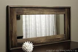 rustic wood mirror frame. Wonderful Frame Rustic Wood Mirror Framed Bathroom Mirrors Large Adorable With Wood Mirror Frame D