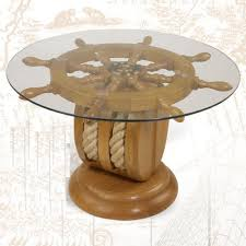 sea themed furniture. Ships Wheel End Table Nautical Furniture Shipwheel Boat Gift With Rope NEW Sea Themed