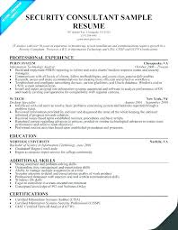 Security Sample Resume Best Of Security Manager Resume Samples Packed With Resume For Security