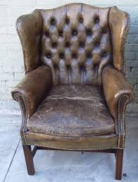 leather wing chairs wingback chair with ottoman strandmon ikea australia antique pair