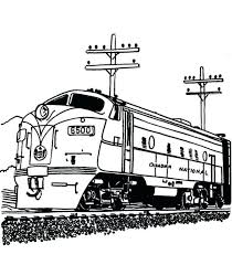 Landscape with a train on a curve. Coloring Pages Of Trains Railroad Streamlined Diesel Engine Train On Railroad Coloring Page Coloring Pages Of Trains With Cars Locca Info 2021