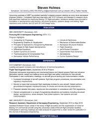 Fresh Graduates Resume Samples New Resume Template Engineering