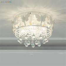Living Room Pendant Light Simple Nordic Butterfly Angel Crystal Glass Pendant Lights Lamps For Living