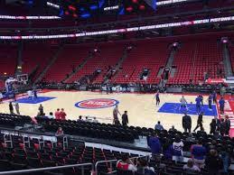 Detroit Pistons Seating Chart Little Caesars Little Caesars Arena Section 107 Home Of Detroit Pistons