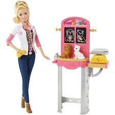 Barbie Vending Machine Walmart Cool Barbie Careers Play Set Pet Vet Walmart