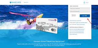 hawaiian airlines credit card account