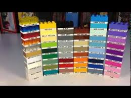 Lego Brick Colour Chart Lego Element Daily Part 3001 2x4 Brick In 54 Colors