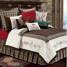 pine cone quilt set pine cone quilts bedding pine cone quilt fabric rustic retreat quilt bedding