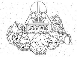 Kleurplaten Star Wars Angry Birds