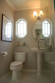 Traditional Bathroom With Neutral Paint Color White Cabinets And Bathroom Colors Pictures