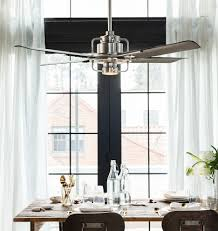 ceiling fans can make a statement much like a chandelier find one like this with integrated lighting and modern industrial style to create a unique look