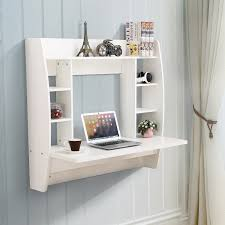 wall mounted office. White Floating Wall Mounted Office Computer Desk Home Table With Storage E
