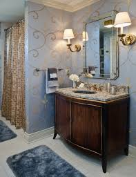 creative ideas for bathroom vanities with classical wall lamps and decorative wall art also using inexpensive bath rugs
