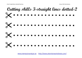 Cutting Skills Printables Worksheets collection - Attention WorkSheets