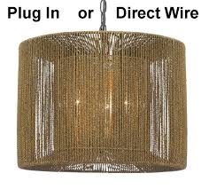 image vintage drum pendant lighting. Lights · Rustic Vintage String Rope Linen Modern Drum Pendant Image Lighting N