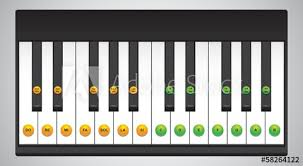 Piano Keys Chart For Beginners Piano Keys Chart Buy This Stock Vector And Explore Similar