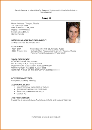 Housekeeping Resume Example Hotel housekeeping resume modern bio resumes 2