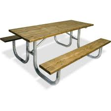 pressure treated wood commercial park extra heavy duty portable table