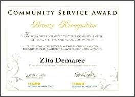 Sample Certificate Of Service Template Impressive Community Service Award Template Sample Certificate Of Appreciation