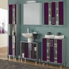 Badezimmer Kombination In Grau Lila Milchglas 4 Teilig