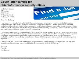 security cover letter samples chief information security officer cover letter