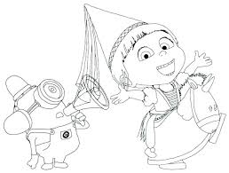 Christmas Minions Coloring Pages Medium Size Of Bob Happy Birthday 3